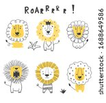 Cute Funny Lions Illustration....