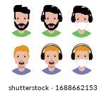 user avatars  avatars with...   Shutterstock .eps vector #1688662153