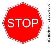 vector stop sign icon. red stop ...