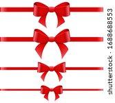 tied bow vector design... | Shutterstock .eps vector #1688688553