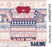 nautical heritage ocean sailing ... | Shutterstock .eps vector #1688688769