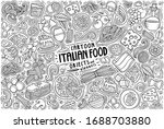 vector hand drawn doodle... | Shutterstock .eps vector #1688703880
