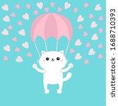 happy valentines day. cat... | Shutterstock .eps vector #1688710393