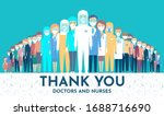 doctors are up front in the... | Shutterstock .eps vector #1688716690