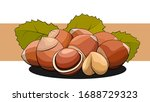 vector simple illustration of a ... | Shutterstock .eps vector #1688729323