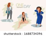 one woman's day illustration... | Shutterstock .eps vector #1688734396