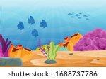 fish marine animals coral reef... | Shutterstock .eps vector #1688737786