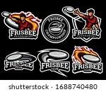 Set Of Frisbee Logo. Frisbee...