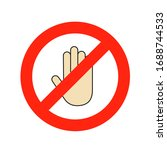 a human hand sign in flat style.... | Shutterstock .eps vector #1688744533