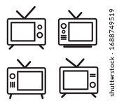 set tv icon. tv icon vector...