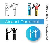 Body Scanning Icon. Airport...