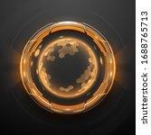 futuristic technology metal... | Shutterstock .eps vector #1688765713