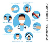 coronavirus prevention measure. ... | Shutterstock .eps vector #1688816050
