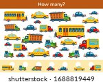 counting children game of toy... | Shutterstock .eps vector #1688819449