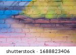 Color Brick Wall Background ...
