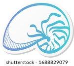 nautilus icon in sticker color...   Shutterstock .eps vector #1688829079