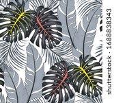 summer seamless tropical... | Shutterstock .eps vector #1688838343