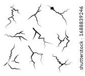 hand drawn cracked wall  ground ...   Shutterstock .eps vector #1688839246