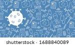 medical background with virus... | Shutterstock .eps vector #1688840089