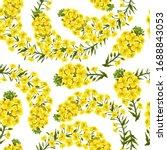 pattern rape flowers  canola....   Shutterstock .eps vector #1688843053