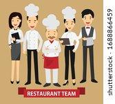 professional chef team cartoon... | Shutterstock .eps vector #1688866459