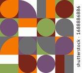 mid century modern pattern....   Shutterstock .eps vector #1688886886