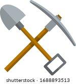 pick and shovel. miner and... | Shutterstock .eps vector #1688893513