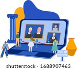concept for online events in...   Shutterstock .eps vector #1688907463