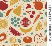 retro style fruit and... | Shutterstock .eps vector #168891854