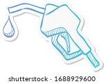 gas dispenser icon in sticker... | Shutterstock .eps vector #1688929600