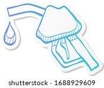 gas dispenser icon in sticker... | Shutterstock .eps vector #1688929609