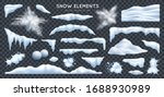 snow capes piles icicles... | Shutterstock .eps vector #1688930989