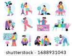 home plant gardening set with...   Shutterstock .eps vector #1688931043