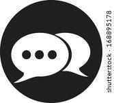 retro style bubble speech icon