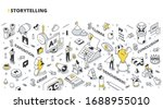storytelling concept. stages of ...   Shutterstock .eps vector #1688955010
