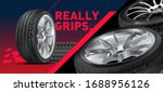 tires car advertisement poster. ... | Shutterstock .eps vector #1688956126