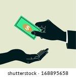 hands giving   receiving money