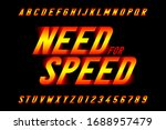 speed style font  need for... | Shutterstock .eps vector #1688957479