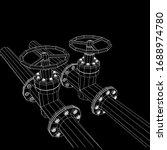 oil pipeline with valve... | Shutterstock .eps vector #1688974780
