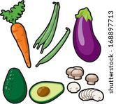 vector vegetables set 2 | Shutterstock .eps vector #168897713