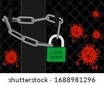 corona virus lock down symbol.... | Shutterstock .eps vector #1688981296