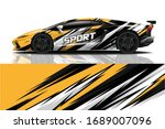sports car wrapping decal design | Shutterstock .eps vector #1689007096