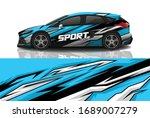 sports car wrapping decal design | Shutterstock .eps vector #1689007279