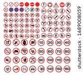 Vector Of Traffic Sign Set.