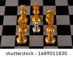 chess. strategy ideas planning...   Shutterstock . vector #1689011830
