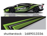 sports car wrapping decal design | Shutterstock .eps vector #1689013336