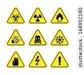 warning signs of danger | Shutterstock .eps vector #168902180