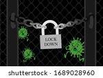 corona virus lock down symbol.... | Shutterstock .eps vector #1689028960