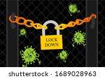corona virus lock down symbol.... | Shutterstock .eps vector #1689028963