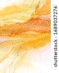alcohol ink drawing technik ... | Shutterstock .eps vector #1689037276